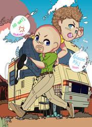 Breaking Bad - Walter White and Jesse chibi by KHAqua