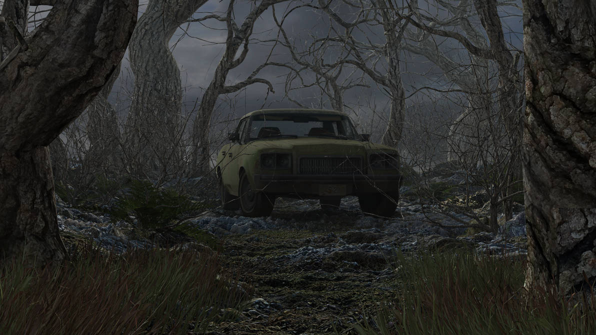 Car In The Woods By Thefozzington96 On Deviantart