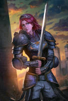 Lady knight by Timkongart