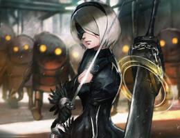 Nier Automata 2B by Timkongart