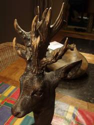 Woodcarver black roebuck fantasy3 by woodcarve