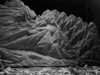 Rockey scape (take distance to view) by woodcarve