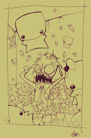 Tiny Cute Pandemonium_lines by quick2004