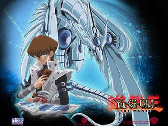 Yu-Gi-Oh Blue-eyed Shining D. by vampire750