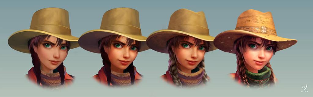 Cowboy face progress by Bahryi
