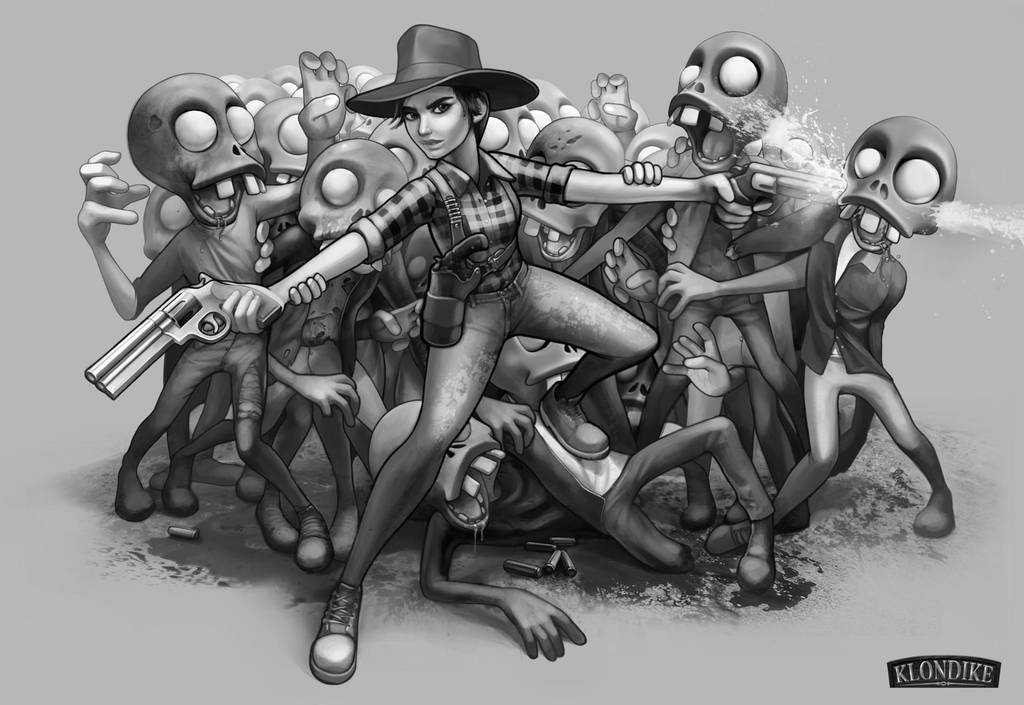 Klondike VS. Zombie by Bahryi
