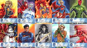 DC New 52 Sketch Cards: 11-20 by skardash
