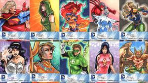 DC New 52 Sketch Cards: 21-30 by skardash