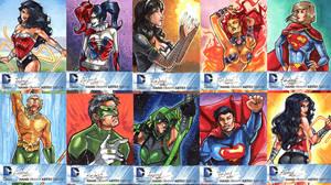DC New 52 Sketch Cards: 31-40 by skardash