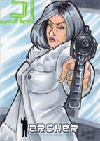Mallory Archer - Gun by skardash
