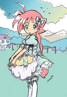 Ahiru Hanging Up Clothes by mangadrawerika91