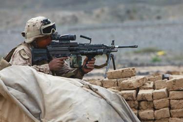 M249 Light Machine Gun by MilitaryPhotos