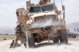 Firefight in Ghazni by MilitaryPhotos