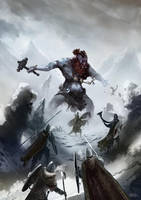 Battling a Frost Giant by teli333