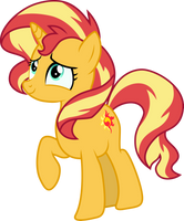 [Vector] Sunset Shimmer #2 by PaganMuffin