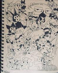 Completed Sketchbook Cover by JBCartoons