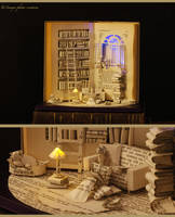 Book sculpture The Paper House... by KarineDiot