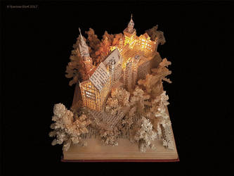 NEUSCHWANSTEIN CASTLE BOOK SCULPTURE SIDE VIEW by KarineDiot