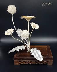 Ikebana Inspiration - Gerbera and Allium by KarineDiot