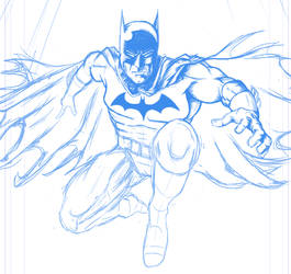 Batman -Work in Progress - rough pencils by frogeybeag