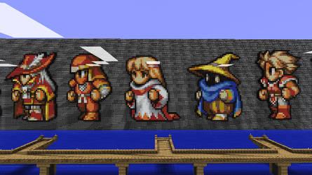 Minecraft - Final Fantasy 1 by Ludolik