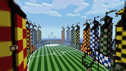 Minecraft - Quidditch Pitch by Ludolik