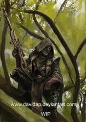 Eldar scout by DavidAP
