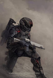 Dust soldier by DavidAP