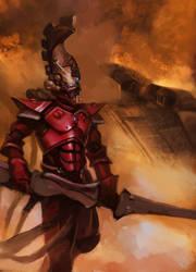 Eldar firedragon sketch by DavidAP