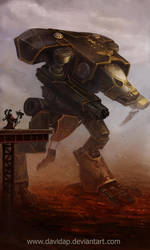 Titan Warhound Legio Crucius by DavidAP