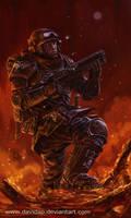 Imperial Guard: Sargent Banes by DavidAP