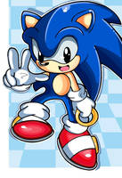 The Classic Blue Sonic by OrdinaryGartist