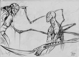 iron man vs iron-spiderman by prototype91