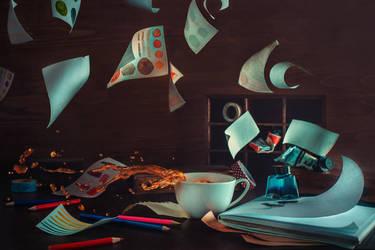 Open window dark by dinabelenko