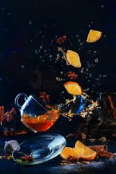 Lemon tea (Wingardium Leviosa!) by dinabelenko