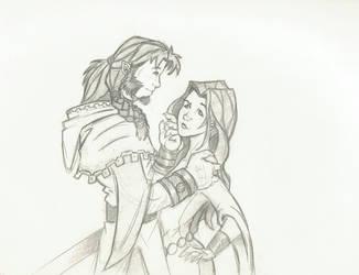The Knight Errant and the Lady by n3v3rw1nt3rw0lf3