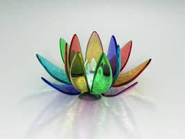 Rainbow Lotus by proXxyq