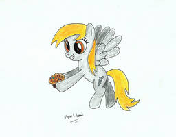 Derpy and her Muffin by UlyssesGrant