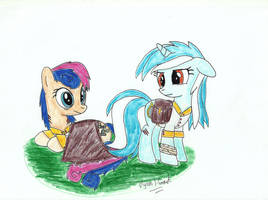 Lyra and Bon Bon, of the Ponyville Guards by UlyssesGrant