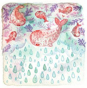Raining Fish by Foyaland