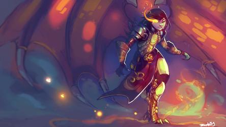 The Dragon Queen by ArtofZombiy