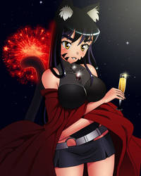 Happy 2019 from Scarlett(request by super-spartan) by chacrawarrior