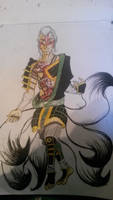kitsune warrior by LucaFenris