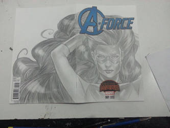 Medusa Aforce sketchcover by Csyeung