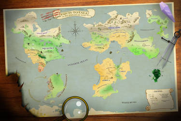 Equis Totale - Alternate Pony Map of the World by Icaron
