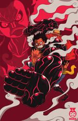 Luffy Gear 4 by Fraviro