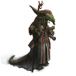 Crocodile-librarian-wizard by Windmaker