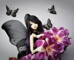 Black butterfly bjd by faith-ramirez08