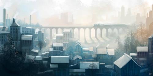 Winter Railway by JulianF