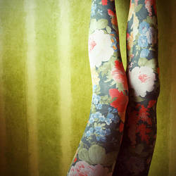 2-365 Some flowers on my legs. by ByLaauraa